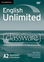 English Unlimited Elementary Classware DVD, Tilbury Alex, Clementson Theresa