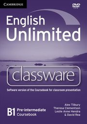 English Unlimited Pre-intermediate Classware DVD, Tilbury Alex, Clement Theresa