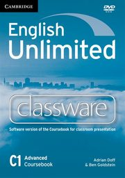 ksiazka tytuł: English Unlimited Advanced Classware DVD autor: Doff Adrian, Goldstein Ben
