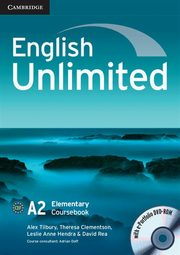 English Unlimited Elementary Coursebook with e-Portfolio DVD-ROM, Tilbury Alex, Clement Theresa
