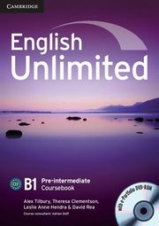 English Unlimited Pre-intermediate Coursebook + DVD, Tilbury Alex, Clementson Theresa