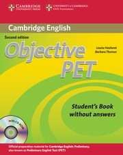 Objective PET Student's Book without Answers + CD, Hashemi Louise, Thomas Barbara