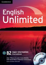 ksiazka tytuł: English Unlimited Upper Intermediate Coursebook + DVD autor: Tilbury Alex, Hendra Leslie Anne