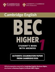 Cambridge English BEC Higher 1 Student's Book with answers,