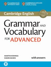 Grammar and Vocabulary for Advanced with answers, Hewings Amrtin, Haines Simon