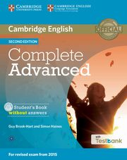 Complete Advanced Student's Book without Answers + Testbank + CD, Brook-Hart Guy, Haines Simon