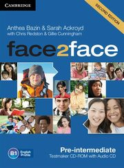 face2face Pre-intermediate Testmaker CD, Bazin Anthea, Ackroyd Sarah