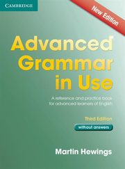 Advanced Grammar in Use without Answers, Hewings Martin