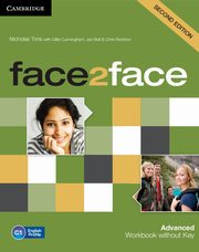 face2face Advanced Workbook without Key, Tims Nicholas, Cunningham Gillie, Bell Jan