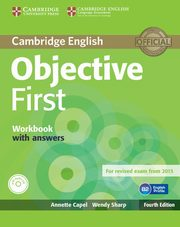 Objective First Workbook with Answers + CD, Capel Annette, Sharp Wendy