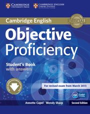 ksiazka tytuł: Objective Proficiency Student's Book with Answers autor: Annette Capel , Wendy Sharp