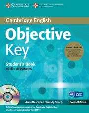 Objective Key Student's Book with answers + 3CD, Capel Annette, Sharp Wendy