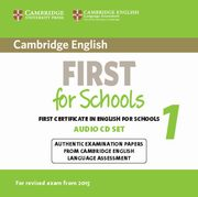 Cambridge English First for Schools 1 2CD,