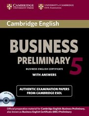 Cambridge English Business 5 Preliminary Self-study Pack Student's Book with Answers and Audio CD,