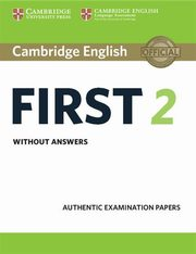 Cambridge English First 2 Student's Book without answers,