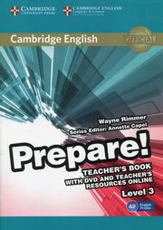 Prepare! 3 Teacher's Book with DVD and Teacher's Resources Online, Rimmer Wayne